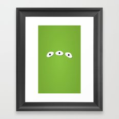 Alien Eyes Framed Art Print