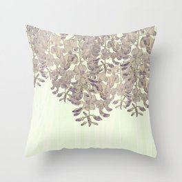 Wisteria - a thing of beauty is a joy forever Throw Pillow