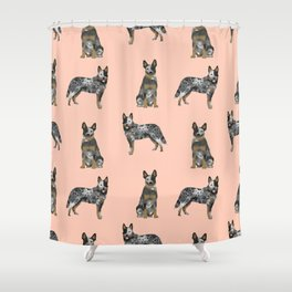 Australian Cattle Dog blue heeler dog breed gifts for cattle dog owners Shower Curtain