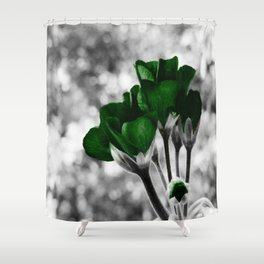 Green Flowers:  Pop of Color Shower Curtain