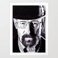 heisenberg Art Prints featuring Heisenberg  by DeMoose_Art