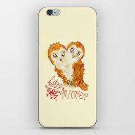 Optimistic Owl iPhone Skin