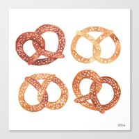 oana befort Canvas Prints featuring PRETZELS by Oana Befort