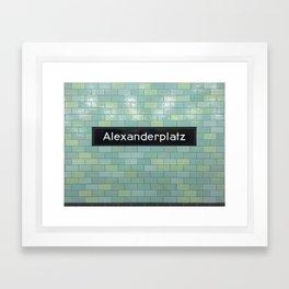 Berlin U-Bahn Memories - Alexanderplatz Framed Art Print