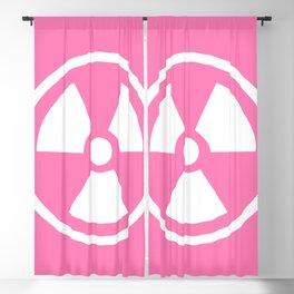 Pink Radioactive Symbol Blackout Curtain