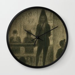 """Trombonist (Study for """"Circus Side Show"""") Wall Clock"""