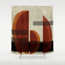 """Abstract Ships at Sunset"" Shower Curtain"