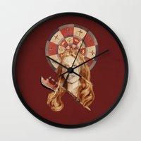 buffy Wall Clocks featuring Buffy by mycolour