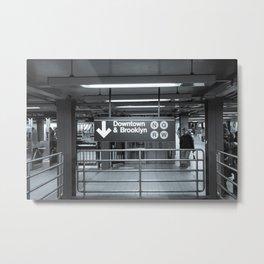 New York City Subway Downtown  Metal Print