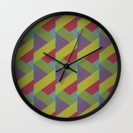 Ribbon Geometry Wall Clock