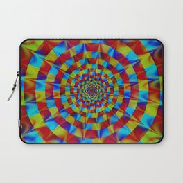 ZOOM #1 Vibrant Psychedelic Optical Illusion Laptop Sleeve