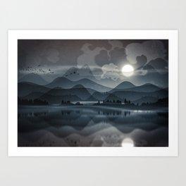 Silver Sun Art Print