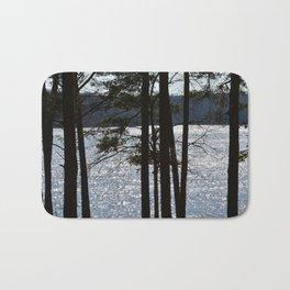 winter lake Bath Mat