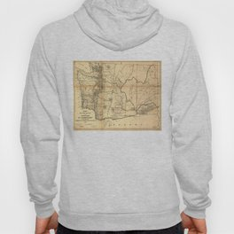 Vintage Map of Washington State (1866) Hoody