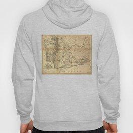 Vintage Map of Washington State (1866) Hoody