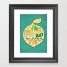 Lemon Meringue Pie Framed Art Print
