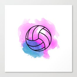 Volleyball Watercolor Canvas Print