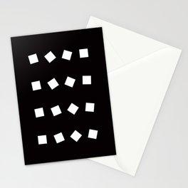 Geometric Pattern 32 (black white squares) Stationery Cards