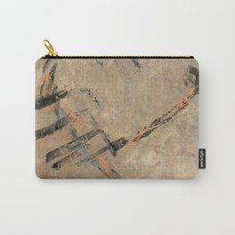 Ancient Storm Abstract In Earthtones and Copper Metallic Paint | Corbin Henry Carry-All Pouch