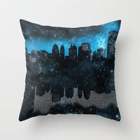 paper towns Throw Pillows featuring Cityscape Galaxy Paper Towns John Green Inspired  by denise