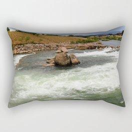 Kayak Practice Rapids in Durango Rectangular Pillow
