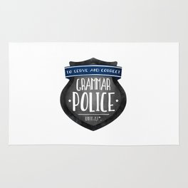 Grammar Police Rug