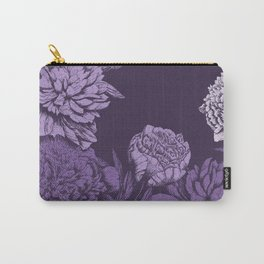 VIOLET FLORAL SYMPHONY Carry-All Pouch