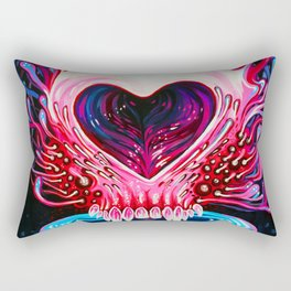 Heart Skull Rectangular Pillow