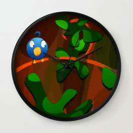 little blue birdie Wall Clock