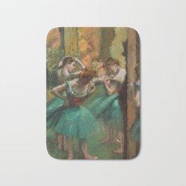 Dancers, Pink and Green by Edgar Degas, 1890 Bath Mat