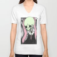 loll3 V-neck T-shirts featuring Death (Tarot Cards Series 2014) by lOll3
