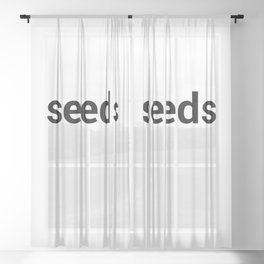 seeds Sheer Curtain