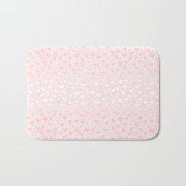 Hearts in light pink Bath Mat