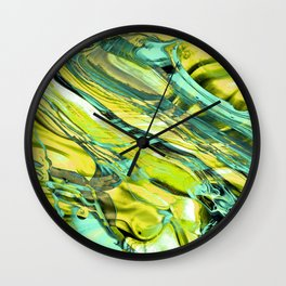 ABSTRACT COLORFUL PAINTING III Wall Clock