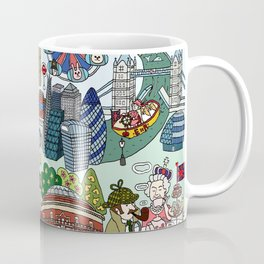 The Queen's London Day Out Coffee Mug