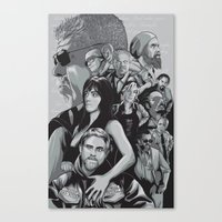 sons of anarchy Canvas Prints featuring Sons of Anarchy by Denis O'Sullivan