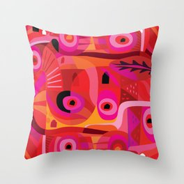Rosa Mexicana Throw Pillow