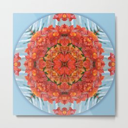 Mandala to Achieve Freedom Metal Print