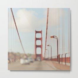 Golden Gate Bridge. A Memory San Francisco Metal Print
