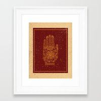 hamsa Framed Art Prints featuring Hamsa by Stranger Designs