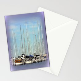 Armada of Yatchs Stationery Cards