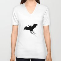 nightwing V-neck T-shirts featuring Nightwing by JT Digital Art