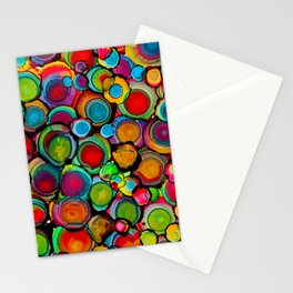 Conscious Overlap (Alcohol Inks Series 03) Stationery Cards