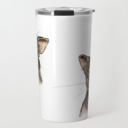 Two Abyssinian cat Travel Mug