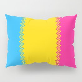 pixel pride- pansexual pride flag Pillow Sham