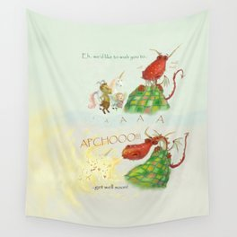 Get Well Soon- Poor Red Dragon  Wall Tapestry
