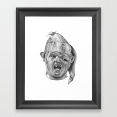 Wood Sloth Framed Art Print