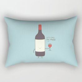 Chill and unwine Rectangular Pillow
