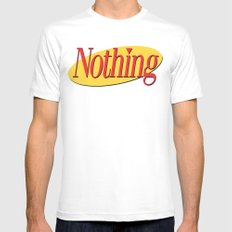 Its A Show About Nothing MEDIUM Mens Fitted Tee White