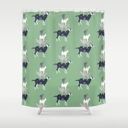 Goat Stack Shower Curtain